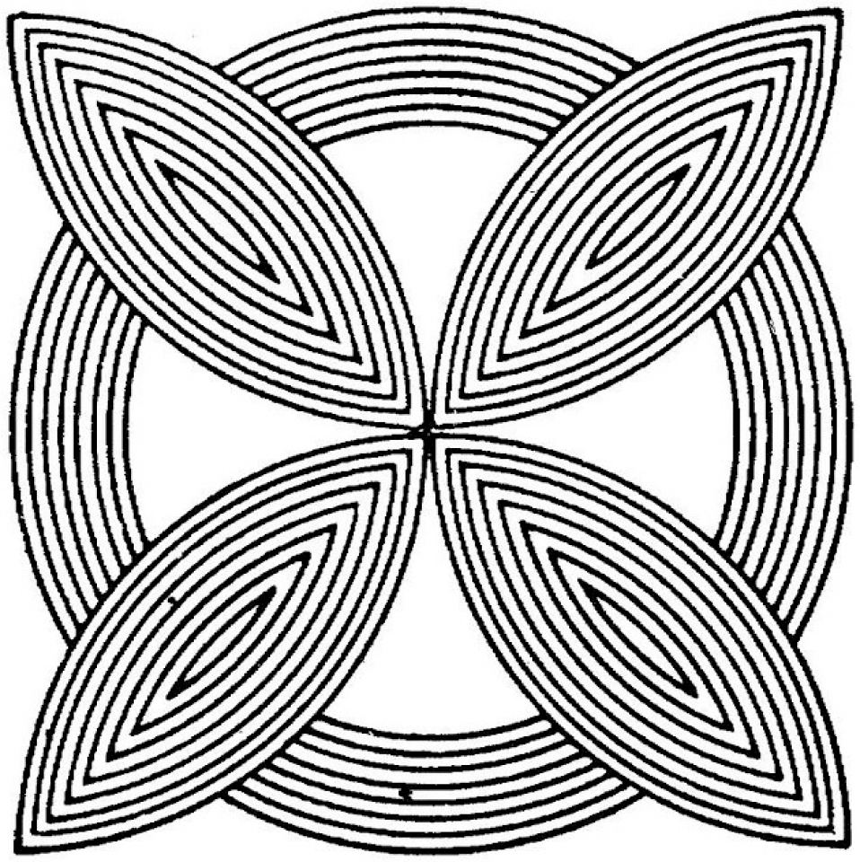 Free Geometric Coloring Pages to Print   83894
