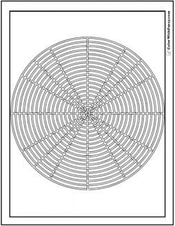 Free Geometric Coloring Pages to Print 94073