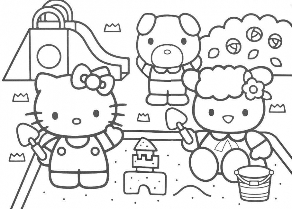 Get This Free Kitty Printable Coloring Pages For Kids 77641