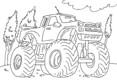 Free Monster Truck Coloring Pages 20035