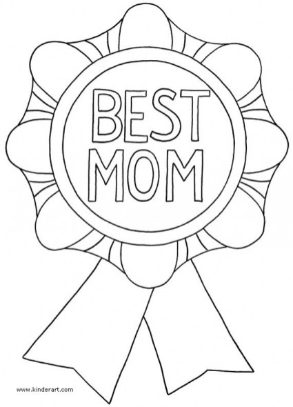 Free Mothers Day Kids Coloring Pages Printable 04710