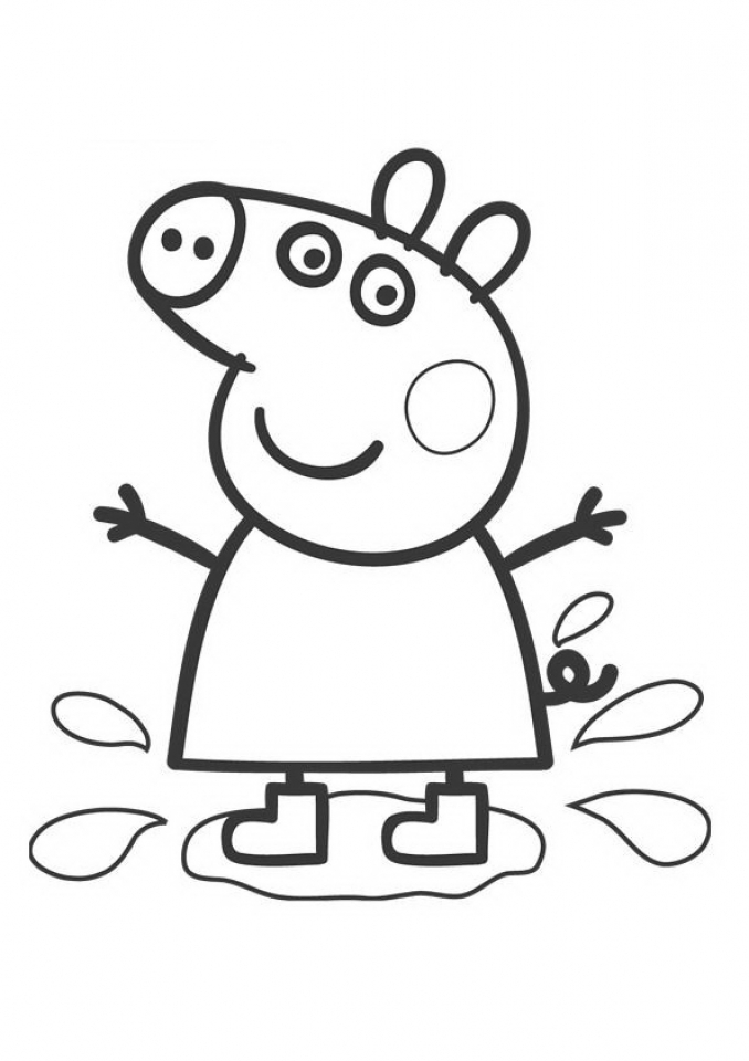 Free Peppa Pig Coloring Pages to Print   29824