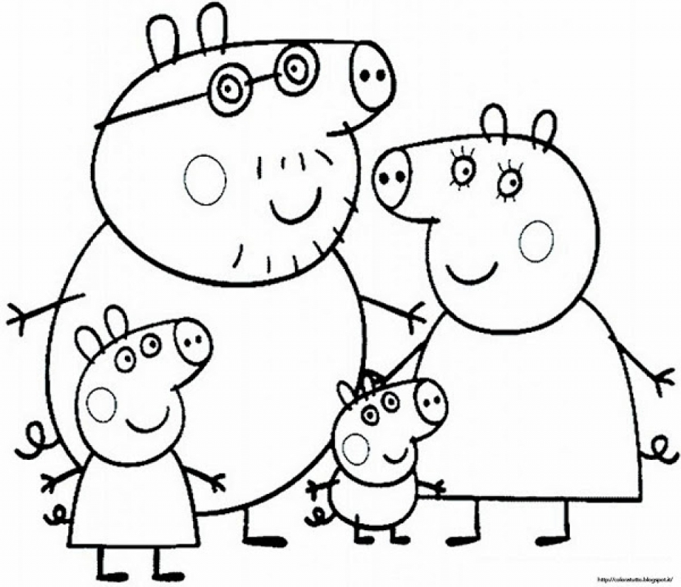 Get This Free Peppa Pig Coloring Pages to Print 83895 !