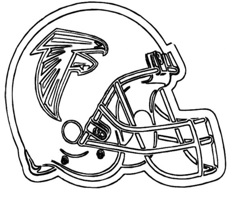 Free Printable Football Helmet NFL Coloring Pages   73619