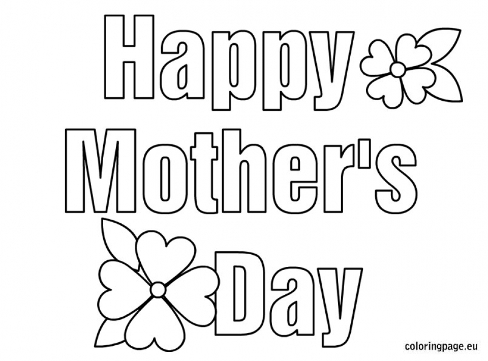 Get This Free Printable Mothers Day Coloring Pages 92019