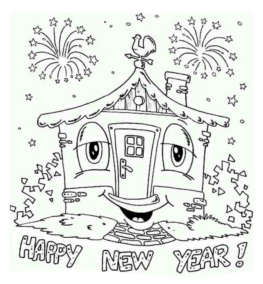 Free Printable New Years Coloring Pages Online   31009
