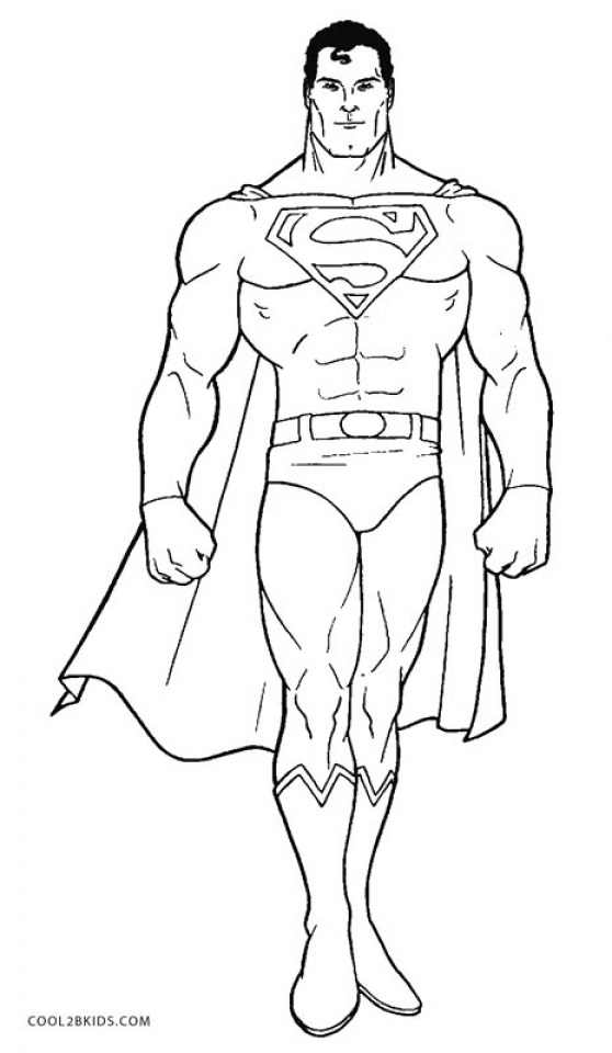 Get This Free Superman Coloring Pages 56950