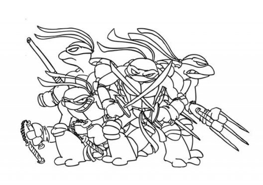Free Teenage Mutant Ninja Turtles Coloring Pages to Print 48166