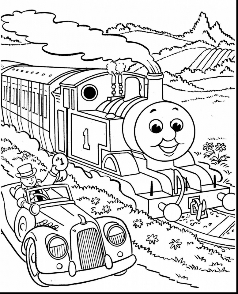 Free Thomas the Train Coloring Pages to Print   37721