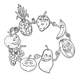 Fruit Coloring Pages Free Printable 17256