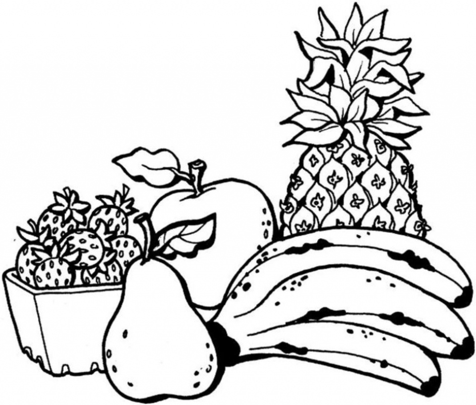 Fruit Coloring Pages Free Printable   27419