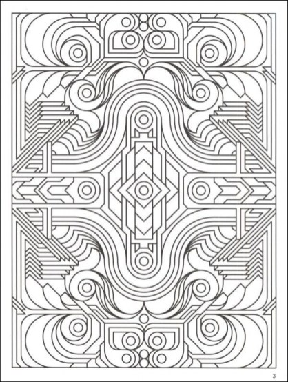 Geometric Coloring Pages Free Printable 30786