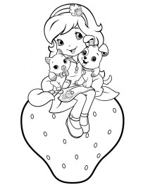 Girls Coloring Pages of Strawberry Shortcake Printable 93319