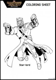 Guardians of the Galaxy Coloring Pages Printable 26501