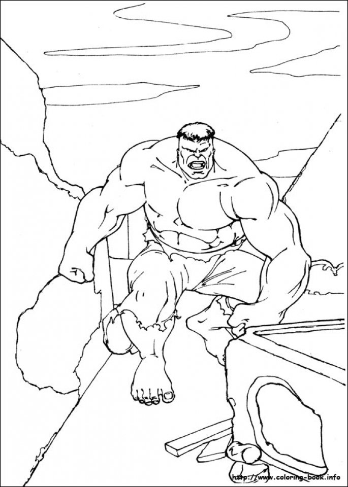 Hulk Coloring Pages Kids Printable   61636