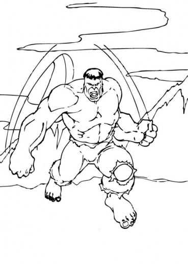 Hulk Coloring Pages to Print for Boys 77631