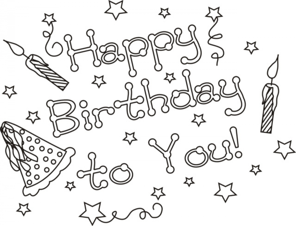 Kids Coloring Pages Happy Birthday Printable   50185