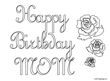 Kids Coloring Pages Happy Birthday Printable 61749