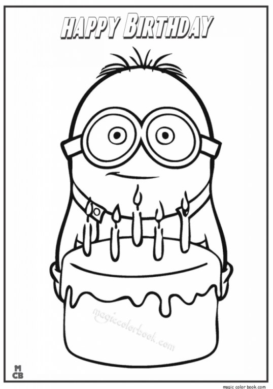 Kids Coloring Pages Happy Birthday Printable 83519
