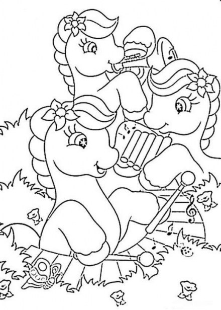 Kids Printable Fun Coloring Pages of Music 73071