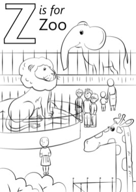 Kids Printable Zoo Coloring Pages Free 36472