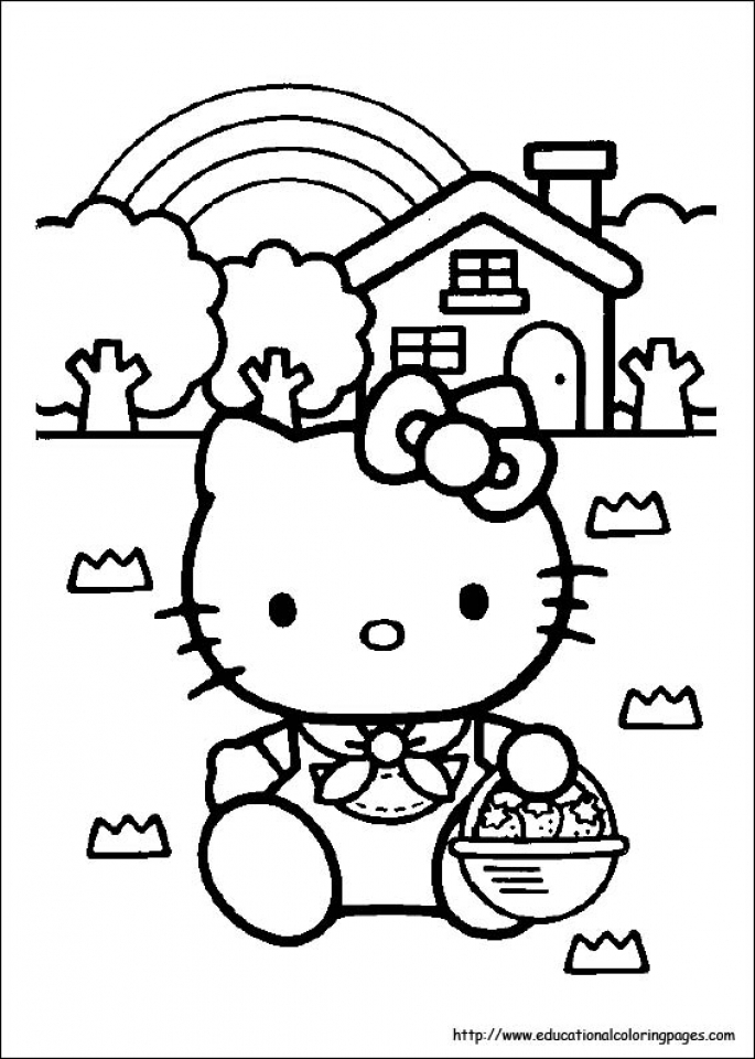 Kitty Coloring Pages Free to Print   53617