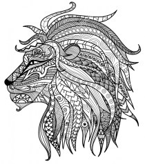 Lion Coloring Pages for Adults Printable 31622