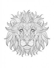 Lion Coloring Pages for Adults Printable 55228