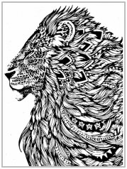 Lion Coloring Pages for Adults Printable 64831
