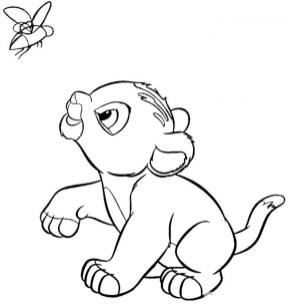 Lion Cub Coloring Pages for Kids 36658