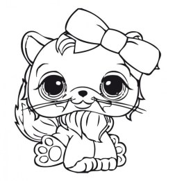 Littlest Pet Shop Cute Animals Coloring Pages for Kids 17502