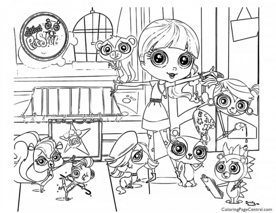 20+ Free Printable Littlest Pet Shop Coloring Pages - EverFreeColoring.com