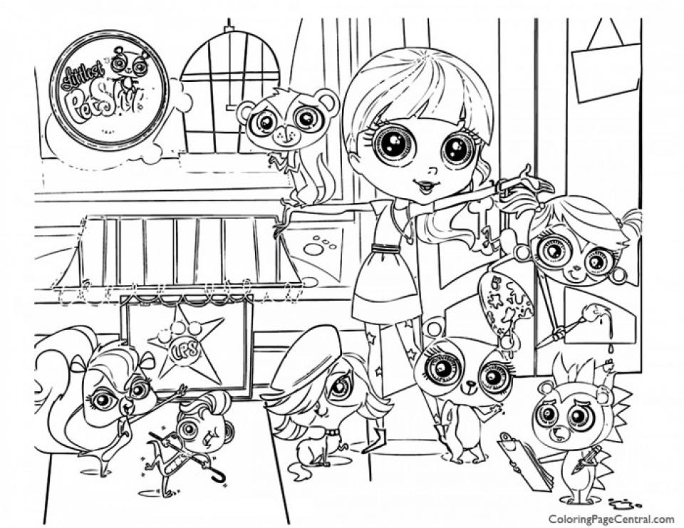 Littlest Pet Shop Kids Printable Coloring Pages   84027