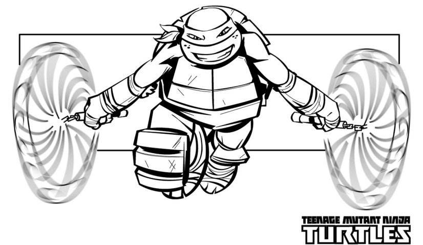 michaelangelo from teenage mutant ninja turtles coloring pages - 12721