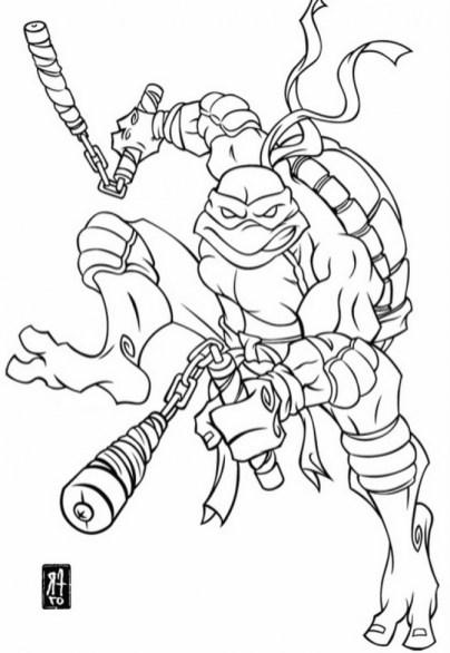michelangelo teenage mutant ninja turtles coloring pages 25143