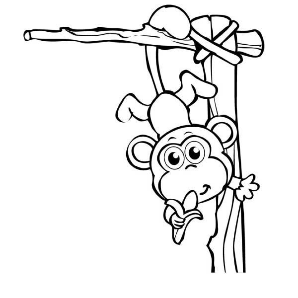 Monkey Coloring Pages for Kids   60692