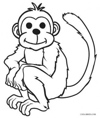 Monkey Coloring Pages for Kids 70416