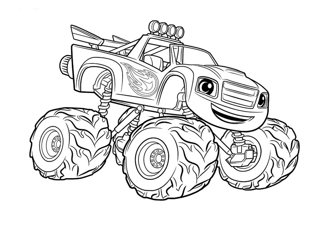 Get This Monster Truck Coloring Page Free Printable For