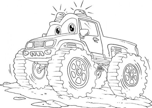 Monster Truck Coloring Pages Free Printable 85187