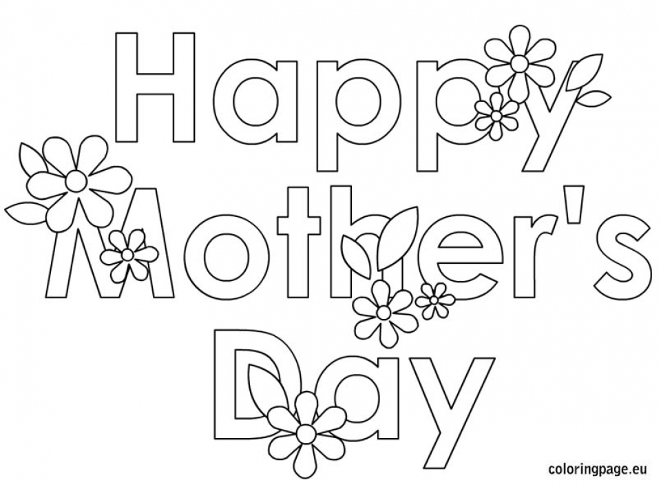 Mothers Day Coloring Pages for Kids   15269