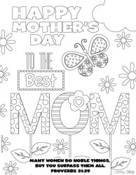 Mothers Day Coloring Pages for Kids 27128