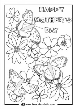 Mothers Day Coloring Pages for Kids 39307