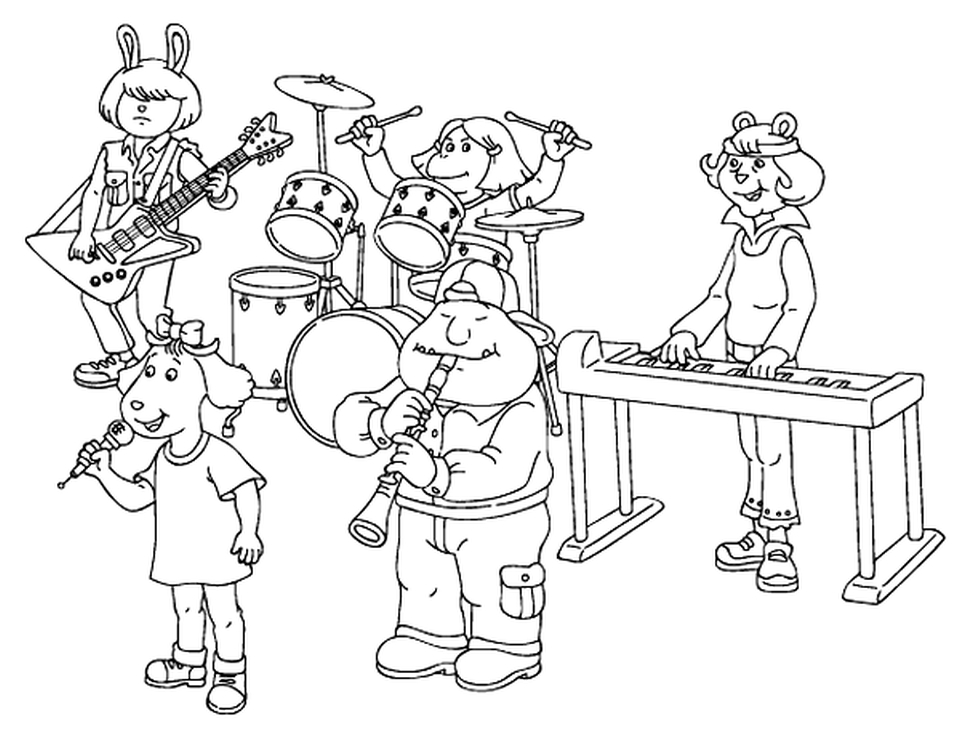 music coloring pages to print online - 27102