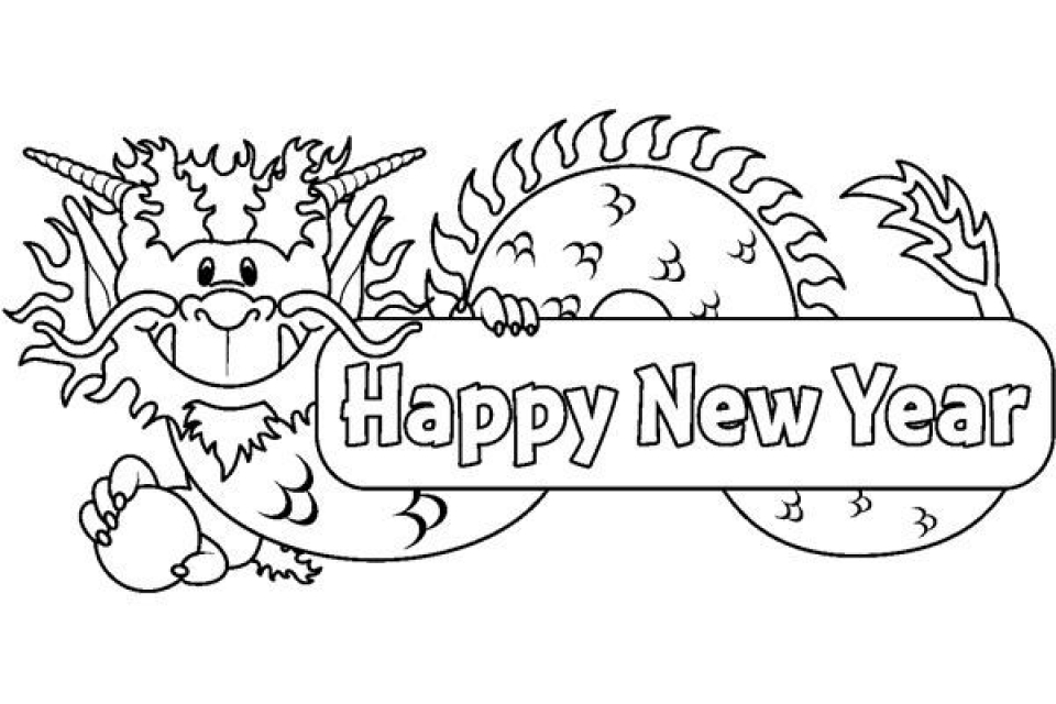 New Years Coloring Pages Free to Print for Kids   32073