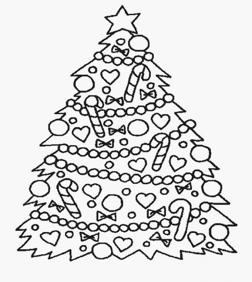 Online Christmas Tree Coloring Pages   29097