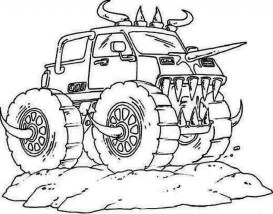 Online Monster Truck Coloring Pages 6976