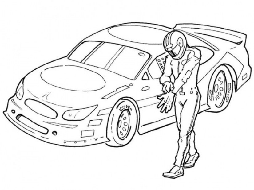 Online Nascar Coloring Pages for Kids 57070