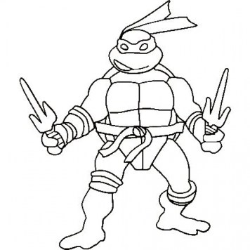 Online Teenage Mutant Ninja Turtles Coloring Pages 58357