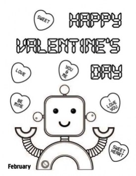 Online Valentines Coloring Pages 44421