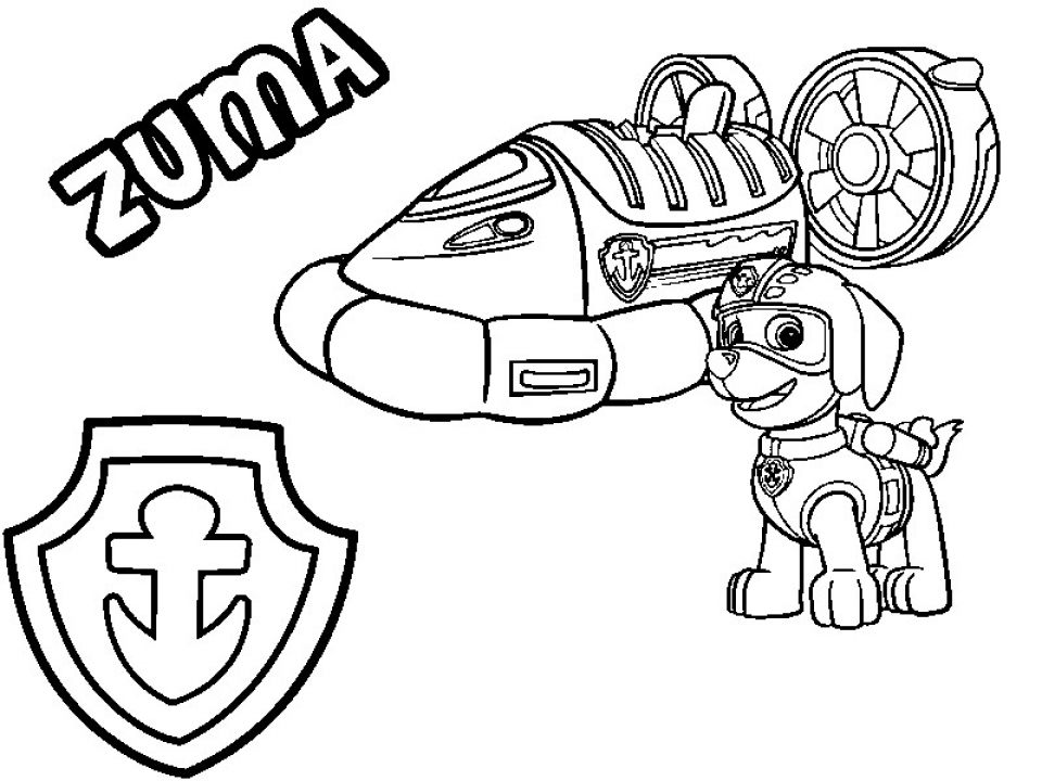 Paw Patrol Coloring Pages for Preschoolers   73256